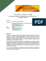 La Planeación Didáctica Argumentada Como Instrumento de Evaluación Docente