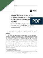 Una Comparativa Entre La FP Dual Sistema Alemán y Español