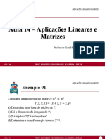 Aula 14 - Aplicações Lineares e Matrizes