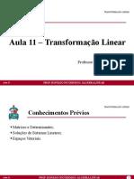 Aula 11 - Transformação Linear (1)