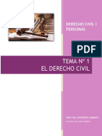 DCIVIL I TEMA Nº 1 EL DERECHO CIVIL