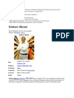 Kishore Biyani is the Managing Director of Pantaloon Retail