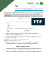 Matemática - Semana 01 - 2º Bimestre. 9º A