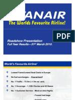 ryanair 2010 presentation