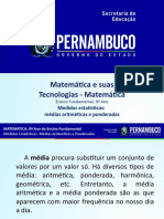 Medidas estatísticas médias aritméticas e ponderadas