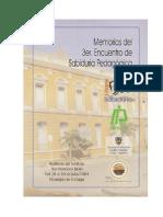 MEMORIAS TERCER ENCUENTRO SABIDURIA PEDAGOGICA