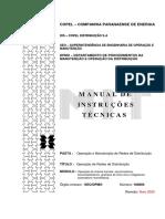 MIT 160803v16 - OPERAÇÃO DE CHAVES FUSÍVEIS, SECCIONADORAS, SECCIONALIZADORES, GRAMPOS DE LINHA VIVA E RELIGADORES MONOFASICOS