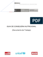 Documento de Trabajo - GUIA DE CONSEJERIA NUTRICIONAL peru