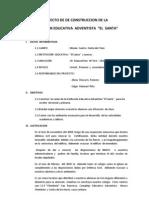 """PROYECTO CONSTRUCCION  IGLESIA -COLEGIO """"El Santa"""""""