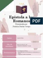 Carta a los Romanos - Exposición Patricia Durán Crespo