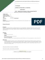 Programa Disciplina Cálculo Funçoes Variável II