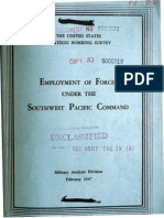 USSBS Report 65, Military Analysis Division, Employment of Forces Under the Southwest Pacific Command