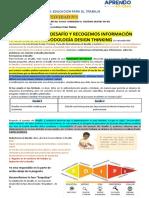 1ERA ACTIVIDAD FORMULAMOS EL DESAFIO