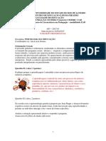 Gabarito AP1 Psicologia da Educação