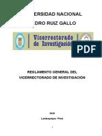 Reglamento Investigacion Unprg 2020