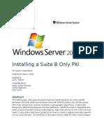 Suite B PKI in Windows Server 2008