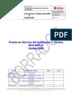 Puesta en Servicio del Compresor 06-K-6001-A (Rev)