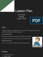5e lesson plan
