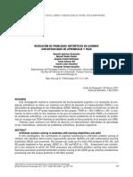 Resolución de problemas aritméticos en niños con problemas del aprendizaje y TDAH