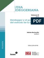 Studia Heideggeriana Vol III. Heidegger y el problema del método de la filosofía
