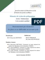 Raisonnement Par Rc3a9currence Sa Place Et Ses Difficultc3a9s Au Second Cycle 11