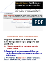 (2020) Aula 7 - Durkheim e o Lugar Do Fato Social