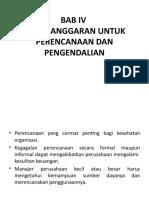 Bab IV Pengganggaran Untuk Perencanaan Dan Pengendalian