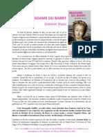 MADAME DU BARRY Jeanine Huas
