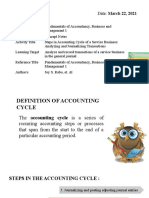 Week 8 - Steps in the Accounting Cycle of a Service Business (Analyzing and Journalizing)