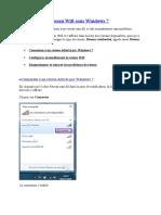 Configurer un réseau Wifi sous Windows 7