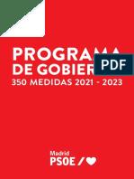 Programa electoral del PSOE Madrid para las elecciones del 4-M