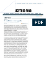 COSTA, L. D.; CODATO, Adriano. Os candidatos e suas agendas. Gazeta do Povo, 2 out. 2008.
