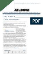 CODATO, Adriano. A gestão política da política. Gazeta do Povo, 2 jan. 2011