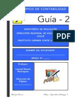 GUÍA # 2 DE PRINCIPIOS DE CONTABILIDAD