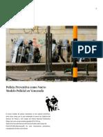 Policía Preventiva como Nuevo Modelo Policial en Venezuela
