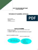 indici di variabilità e di forma