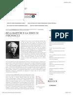 Béla Bartók e la serie di Fibonacci