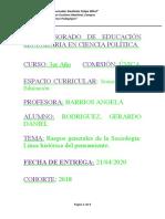 PROFESORADO DE EDUCACIÓN SECUNDARIA EN CIENCIA POLÍTICA