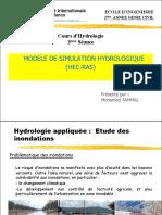 Hydrologie Modele Simulation HEC RAS