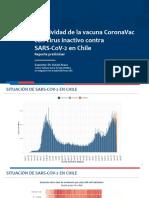 Efectividad de la vacuna CoronaVac en Chile