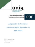 Publicidad digital y SEM- Asignación de formatos creativos según tipologías de campañas