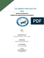 TAREA 3 DE INVESTIGACION DE MERCADOS