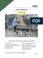 NDT Level 2 in Leak_Testing