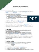 ELEMENTOS DE LA ADMINISTRACIÓN