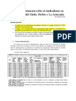 Datos Sindicalismo. Felipe Marchant