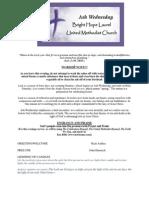 Ash Wednesday Bulletin for Website