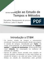 Aula 3 - Introdução ET&M