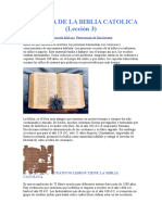 HISTORIA DE LA BIBLIA CATOLICA