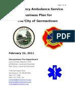 GFD Ambulance Service Business Plan