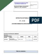 PTS 010_v1. Instructivo de Acciones Inmediatas ante Incidentes